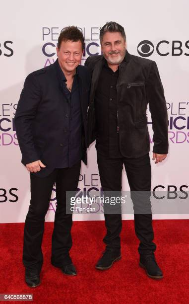 Recording artists Dean Sams and Michael Britt of Lonestar attend the People's Choice Awards 2017 at Microsoft Theater on January 18 2017 in Los...