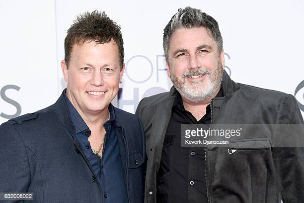 Recording artists Dean Sams and Michael Britt of music group Lonestar attend the People's Choice Awards 2017 at Microsoft Theater on January 18 2017...