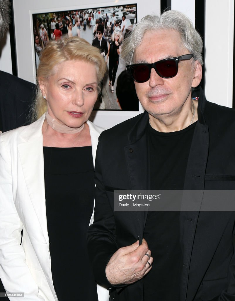 Recording artists <a gi-track='captionPersonalityLinkClicked' href=/galleries/search?phrase=Debbie+Harry&family=editorial&specificpeople=209145 ng-click='$event.stopPropagation()'>Debbie Harry</a> (L) and <a gi-track='captionPersonalityLinkClicked' href=/galleries/search?phrase=Chris+Stein&family=editorial&specificpeople=239488 ng-click='$event.stopPropagation()'>Chris Stein</a> attend the 'Hell in The City of Angels: <a gi-track='captionPersonalityLinkClicked' href=/galleries/search?phrase=Chris+Stein&family=editorial&specificpeople=239488 ng-click='$event.stopPropagation()'>Chris Stein</a>' photo exhibition opening at the Morrison Hotel Gallery on August 9, 2013 in West Hollywood, California.