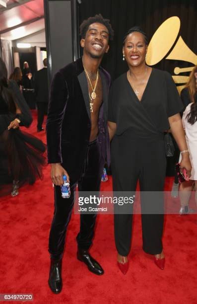 Recording artists Desiigner and Rachel Cato at The 59th Annual GRAMMY Awards at STAPLES Center on February 12 2017 in Los Angeles California