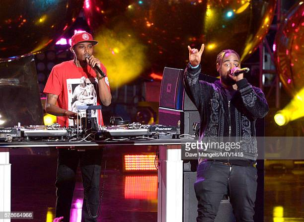 Recording artists DJ Trap and Kent Jones perform on stage at the MTV Fandom Awards San Diego at PETCO Park on July 21 2016 in San Diego California