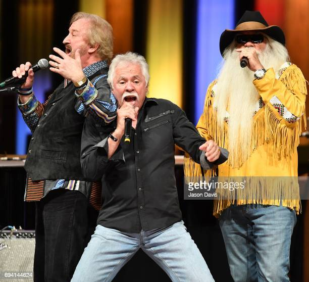 Recording Artists Duane Allen Joe Bonsall and William Lee Golden of The Oak Ridge Boys perform onstage at The Grand Ole Opry on June 8 2017 in...