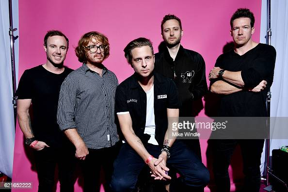 Recording artists Eddie Fisher Drew Brown Ryan Tedder Brent Kutzle and Zach Filkins of OneRepublic pose for a portrait during CBS RADIO's fourth...