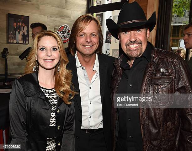 Recording Artists Elaine Roy Lee Roy and Billy Yates attend Recording Artist and Legend George Jones Museum Grand Opening on April 23 2015 in...