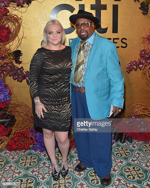Recording artists Elle King and George Clinton attend the Citi Celebrates 2016 Billboard Power 100 on February 12 2016 in Los Angeles California