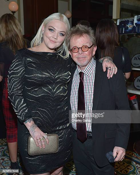 Recording artists Elle King and president of ASCAP Paul Williams attend the Citi Celebrates 2016 Billboard Power 100 on February 12 2016 in Los...