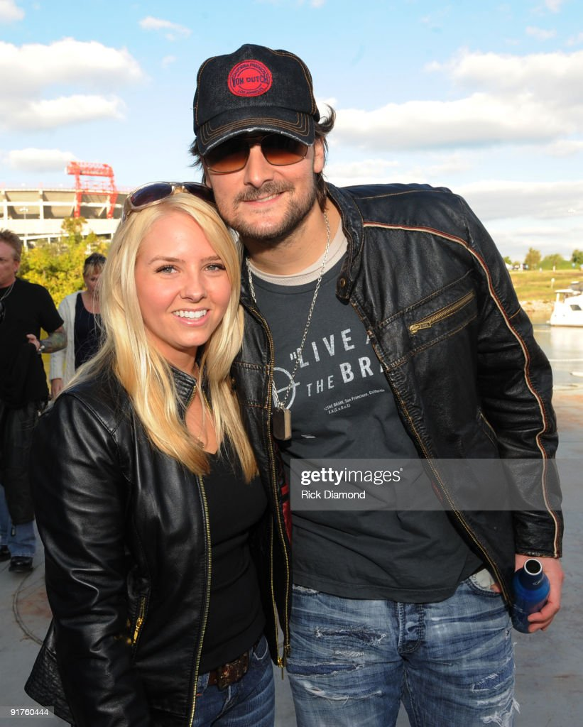 Recording Artists Eric Church and his wife Katherine Church backstage at Dierk's Bentley 4th annual 'Miles Music For Kids' on October 11 2009 at The...