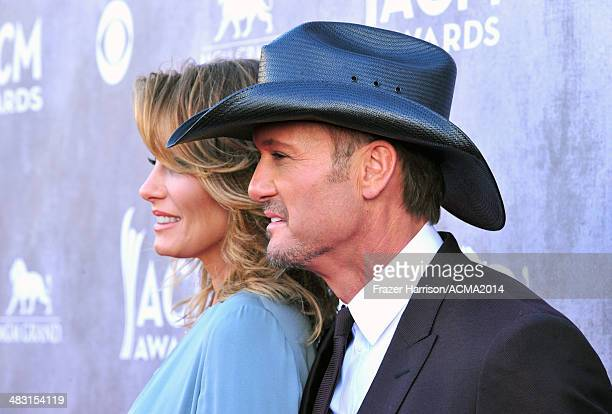 Recording artists Faith Hill and Tim McGraw attend the 49th Annual Academy of Country Music Awards at the MGM Grand Garden Arena on April 6 2014 in...