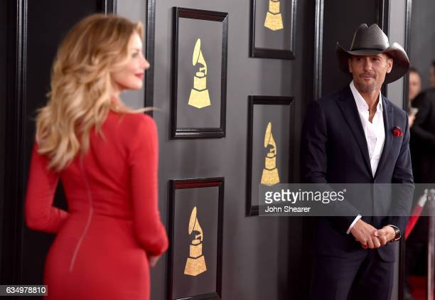 Recording artists Faith Hill and Tim McGraw attend The 59th Annual GRAMMY Awards at STAPLES Center on February 12 2017 in Los Angeles California