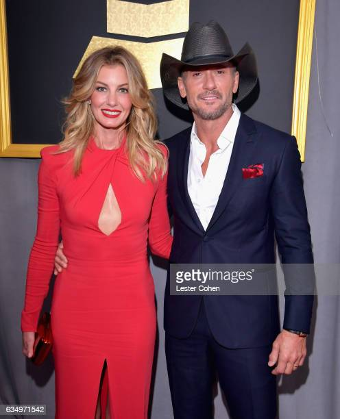 Recording artists Faith Hill and Tim McGraw attend The 59th GRAMMY Awards at STAPLES Center on February 12 2017 in Los Angeles California