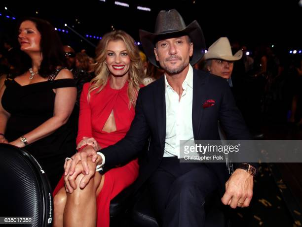 Recording artists Faith Hill and Tim McGraw during The 59th GRAMMY Awards at STAPLES Center on February 12 2017 in Los Angeles California
