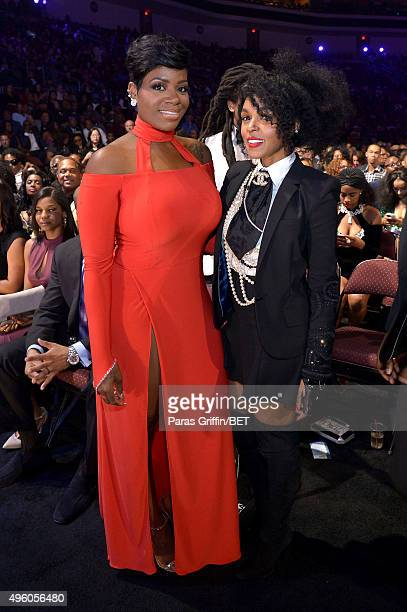 Recording artists Fantasia Barrino and Janelle Monae attend the 2015 Soul Train Music Awards at the Orleans Arena on November 6 2015 in Las Vegas...