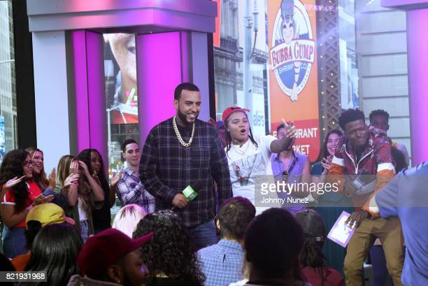 Recording artists French Montana and Young MA and actor/comedian DC Young Fly attend MTV Summer In The City at MTV Studios on July 24 2017 in New...