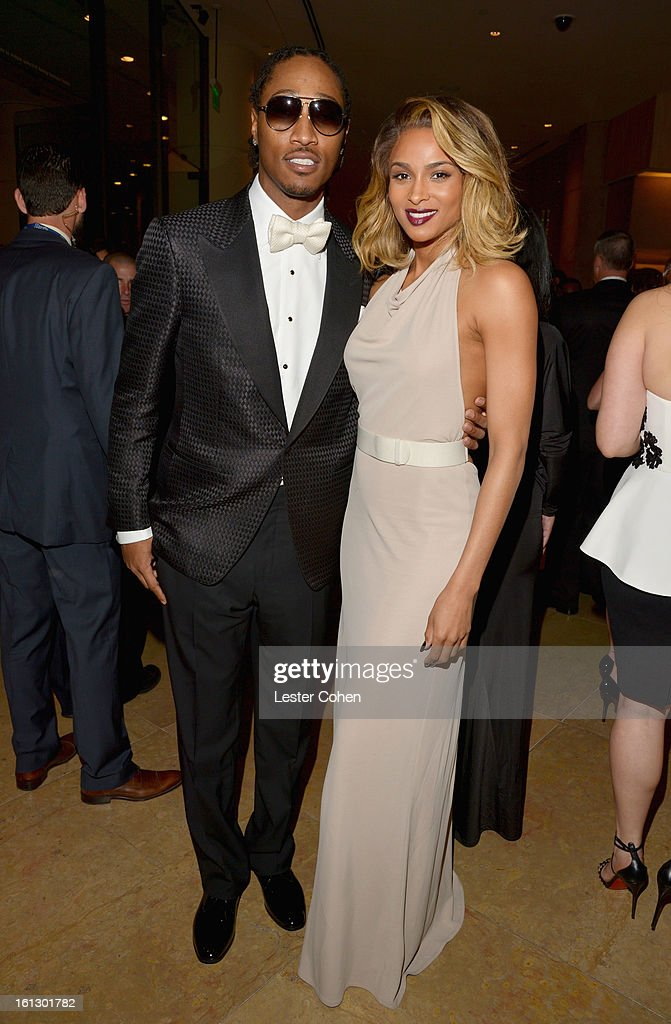 Recording artists Future (L) and Ciara arrive at the 55th Annual GRAMMY Awards Pre-GRAMMY Gala and Salute to Industry Icons honoring L.A. Reid held at The Beverly Hilton on February 9, 2013 in Los Angeles, California.