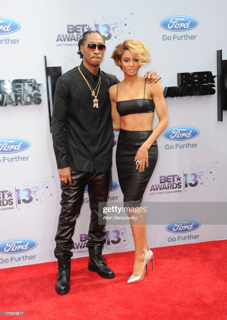 Recording artists Future and Ciara attend 2013 BET Awards - Arrivals at Nokia Plaza L.A. LIVE on June 30, 2013 in Los Angeles, California.