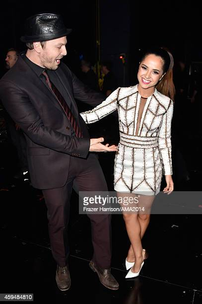 Recording artists Gavin DeGraw and Becky G attend the 2014 American Music Awards at Nokia Theatre LA Live on November 23 2014 in Los Angeles...