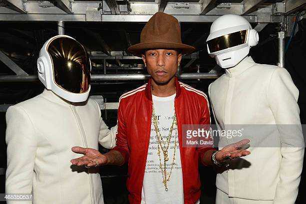Recording artists GuyManuel de HomemChristo Pharrell Williams and Thomas Bangalter winners of Record of the Year and Album of the Year for 'Random...