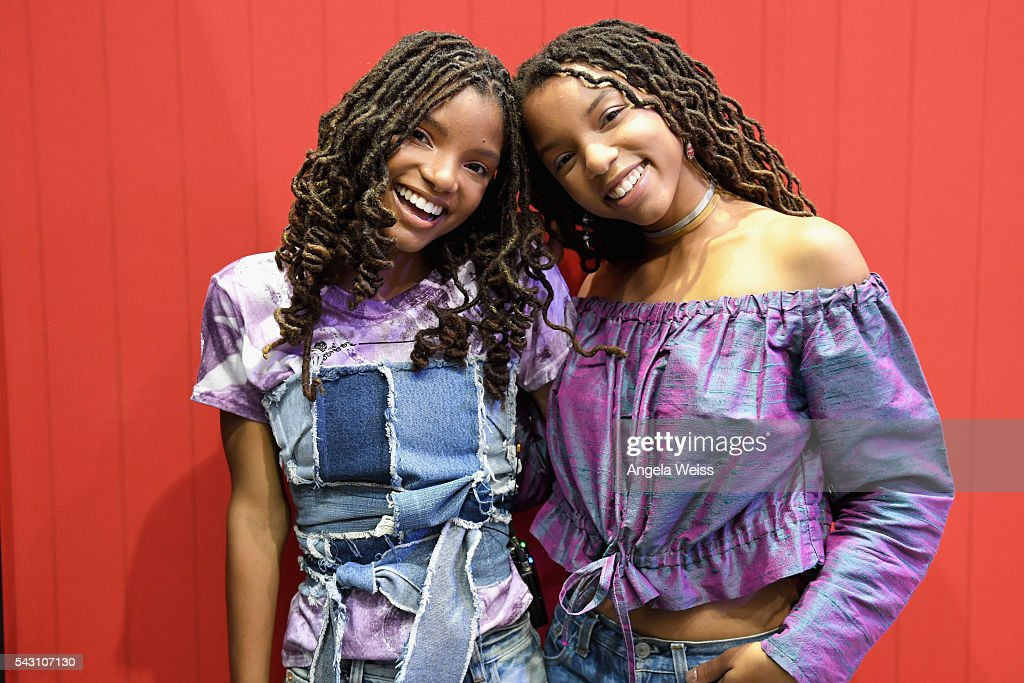 Recording artists Halle Bailey (L) and Chloe Bailey of Chloe x Halle attend FAN FEST during the 2016 BET Experience on June 25, 2016 in Los Angeles, California.
