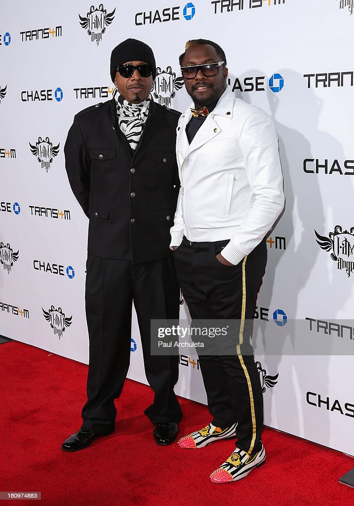Recording Artists Hammer (L) and Will.i.am (R) attend the 2nd Annual Will.i.am TRANS4M Boyle Heights benefit concert at Avalon on February 7, 2013 in Hollywood, California.