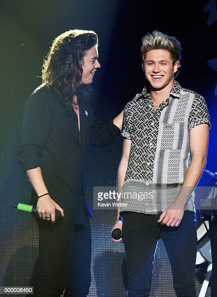Recording artists Harry Styles and Niall Horan of One Direction perform onstage during 1027 KIIS FM's Jingle Ball 2015 Presented by Capital One at...