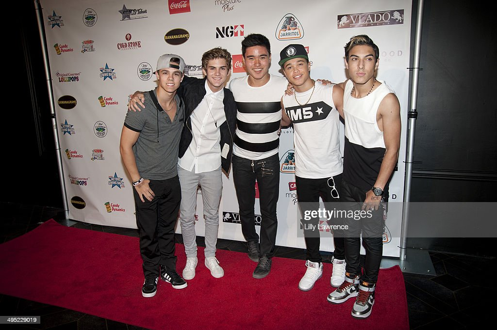 Recording Artists IM5 arrive at Disney Star Ryan Ochoa's 'Swagged Out' 18th Birthday Party at Avalon on June 1 2014 in Hollywood California