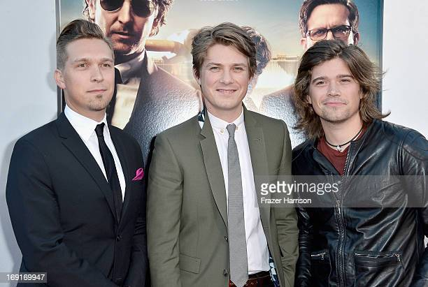 Recording artists Issac Hanson Taylor Hanson and Zac Hanson of Hanson attend the premiere of Warner Bros Pictures' 'Hangover Part 3' at Westwood...