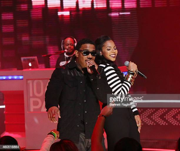 Recording artists Ja Rule and Ashanti performs during 106 Park at BET studio on December 15 2014 in New York City