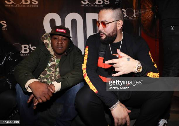 Recording artists Jadakiss and Belly backstage at SOB's on November 14 2017 in New York City