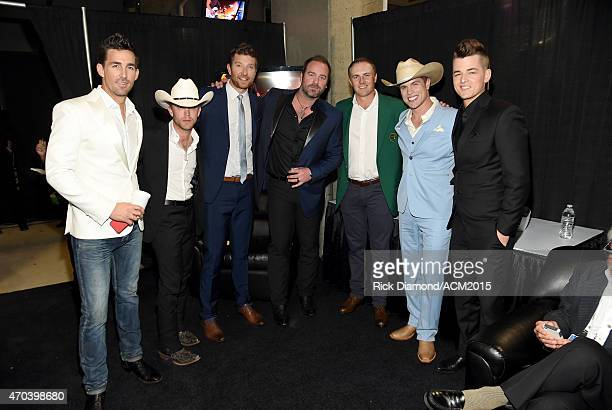 Recording artists Jake Owen Justin Moore Brett Eldredge and Lee Brice professional golfer Jordan Spieth and recording artists Justin Lynch and Chase...