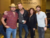 Recording Artists Jason Aldean and Charles Kelley Hillary Scott and Dave Haywood of Lady Antebellum attend Tim McGraw's Superstar Summer Night...
