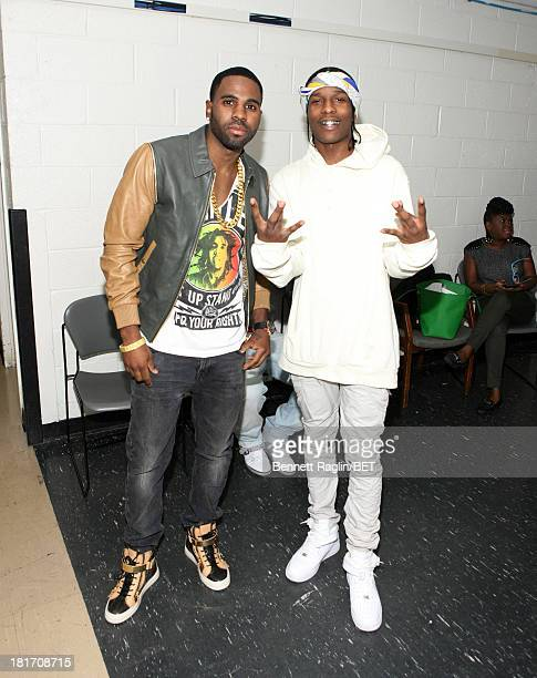 Recording artists Jason Derulo and A$AP Rocky visit 106 Park at 106 Park Studio on September 23 2013 in New York City