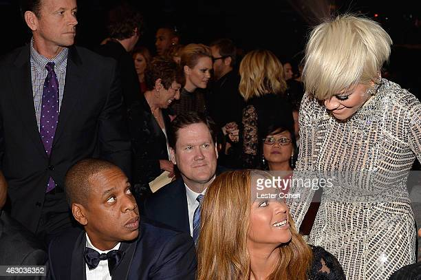 Recording artists JayZ Beyonce and Rita Ora during The 57th Annual GRAMMY Awards at the STAPLES Center on February 8 2015 in Los Angeles California