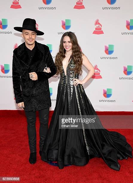 Recording artists Jesse Hiuerta and Joy Huerta of Jesse y Joy attend The 17th Annual Latin Grammy Awards at TMobile Arena on November 17 2016 in Las...