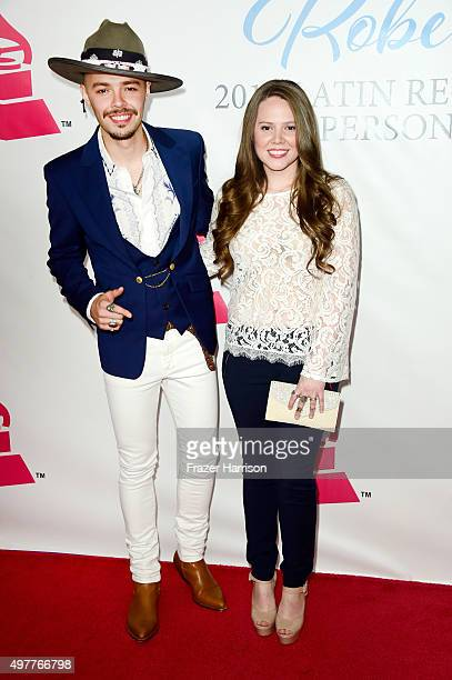 Recording artists Jesse Huerta and Joy Huerta of music group Jesse y Joy attend the 2015 Latin GRAMMY Person of the Year honoring Roberto Carlos at...