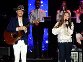 Recording artists Jesse Huerta and Joy Huerta of music group Jesse y Joy perform onstage during the 2015 Latin GRAMMY Person of the Year honoring...