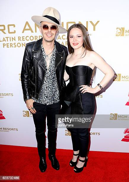 Recording artists Jesse Huerta and Joy Huerta of musical group Jesse and Joy attend the 2016 Person of the Year honoring Marc Anthony at the MGM...