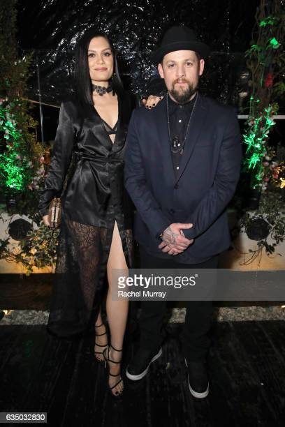 Recording artists Jessie J and Joel Madden of Good Charlotte at a celebration of music with Republic Records in partnership with Absolut and Pryma at...