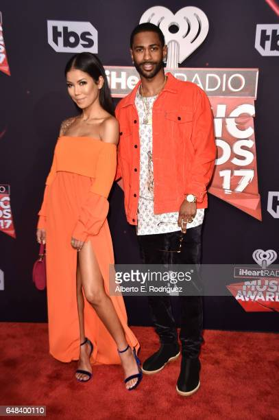 Recording artists Jhene Aiko and Big Sean attend the 2017 iHeartRadio Music Awards which broadcast live on Turner's TBS TNT and truTV at The Forum on...