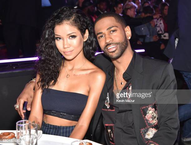 Recording artists Jhene Aiko and Big Sean attend the 2017 MTV Movie And TV Awards at The Shrine Auditorium on May 7 2017 in Los Angeles California