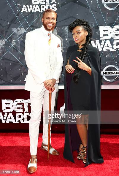 Recording artists Jidenna and Janelle Monae attend the 2015 BET Awards at the Microsoft Theater on June 28 2015 in Los Angeles California