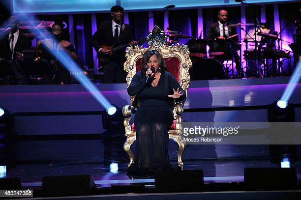 Recording Artists Jill Scott performs at the UNCF's 33rd annual An Evening With The Stars at Boisfeuillet Jones Atlanta Civic Center on April 6 2014...