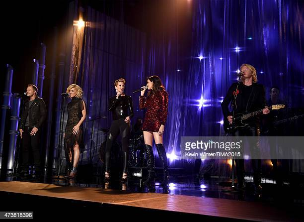 Recording artists Jimi Westbrook and Kimberly Schlapman of Little Big Town Faith Hill and Karen Fairchild and Phillip Sweet of Little Big Town...