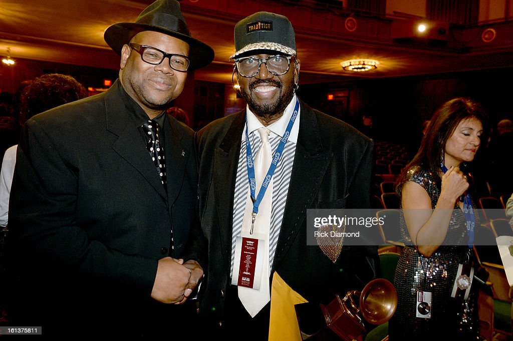 Recording artists Jimmy Jam and Otis Williams attend the Special Merit Awards Ceremony during the 55th Annual GRAMMY Awards at the Wilshire Ebell Theater on February 9, 2013 in Los Angeles, California.