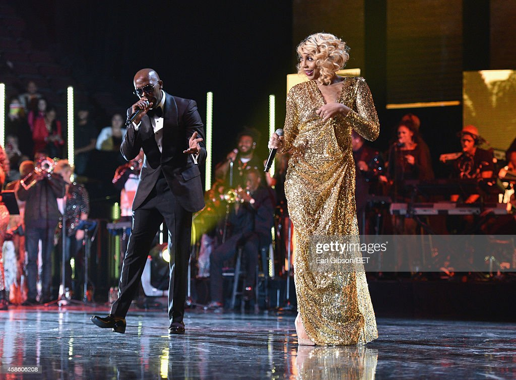 Recording artists Joe and Tamar Braxton perform onstage during the 2014 Soul Train Music Awards at the Orleans Arena on November 7 2014 in Las Vegas...