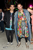 Recording artists Joe Jonas and Cole Whittle of musical group DNCE attend the Levi's Brand and RE/DONE Levi's presents NEON CARNIVAL with Tequila Don...