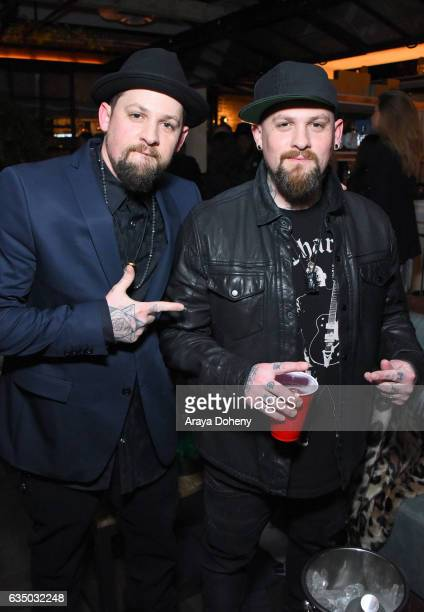 Recording artists Joel Madden and Benji Madden of Good Charlotte at a celebration of music with Republic Records in partnership with Absolut and...