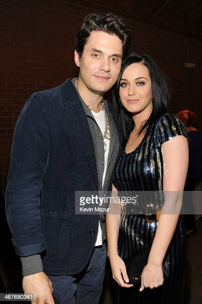 Recording artists John Mayer and Katy Perry attend Hollywood Stands Up To Cancer Event with contributors American Cancer Society and Bristol Myers...