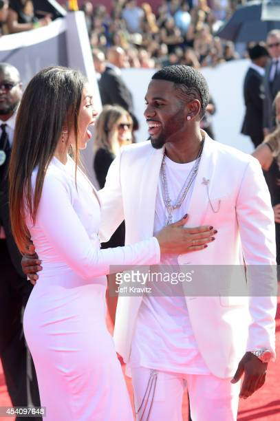 Recording artists Jordin Sparks and Jason Derulo attend the 2014 MTV Video Music Awards at The Forum on August 24 2014 in Inglewood California
