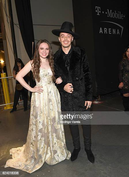 Recording artists Joy Huerta and Jesse Huerta of Jesse y Joy attend The 17th Annual Latin Grammy Awards at TMobile Arena on November 17 2016 in Las...