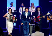 Recording artists Julieta Venegas and Carlos Vives perform onstage during the 2015 Latin GRAMMY Person of the Year honoring Roberto Carlos at the...